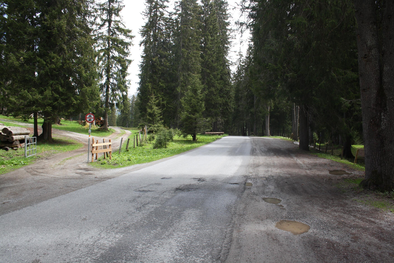 Lechradweg kurz vor Lech am Arlberg